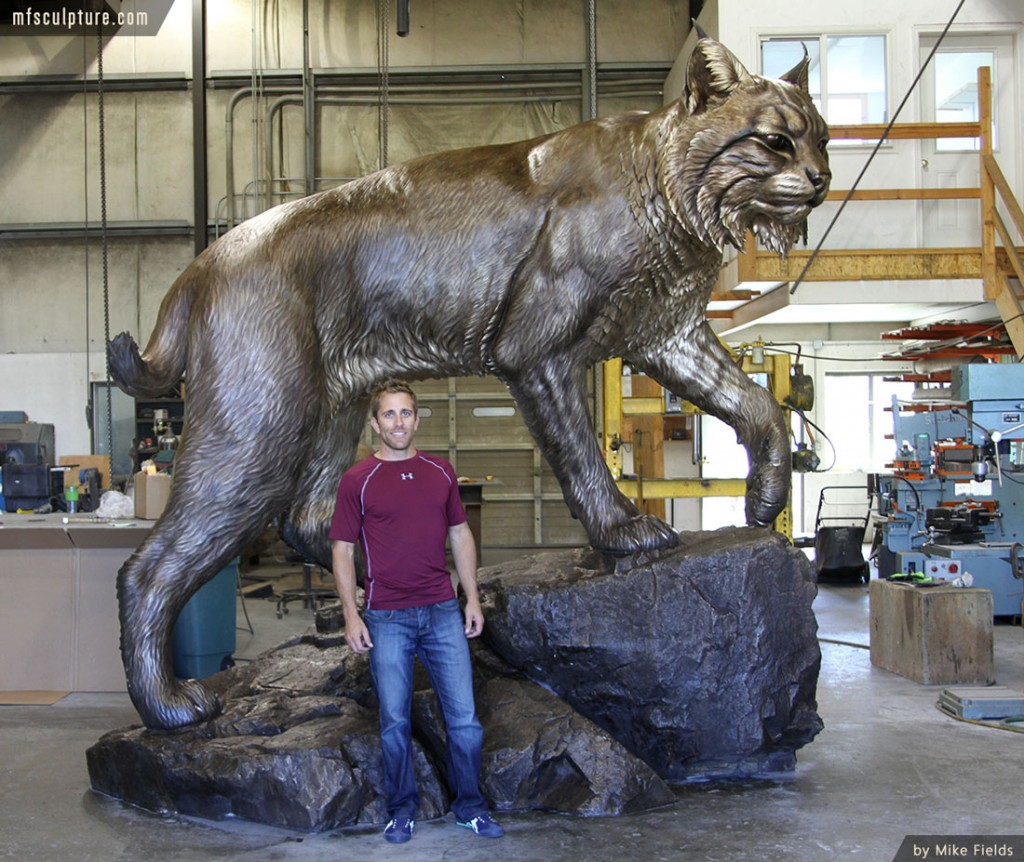 Wildcat Sculpture University Monument Mascot Art Mike Fields