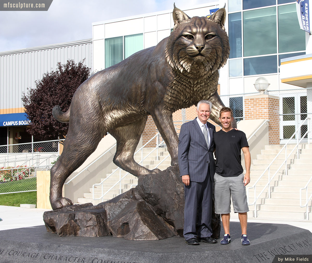 Wildcat Statue University Mascot Monument Art 3