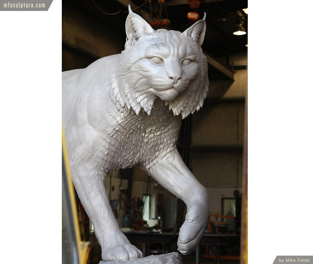 Wildcat Statue University Mascot Monument Public Art 4