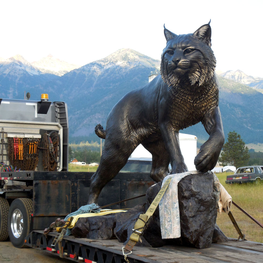 Wildcat University Mascot Monument Sculpture JWU College Professional team 23