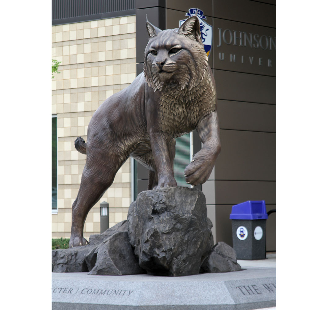 Wildcat University Mascot Monument Statue JWU College Professional team 11