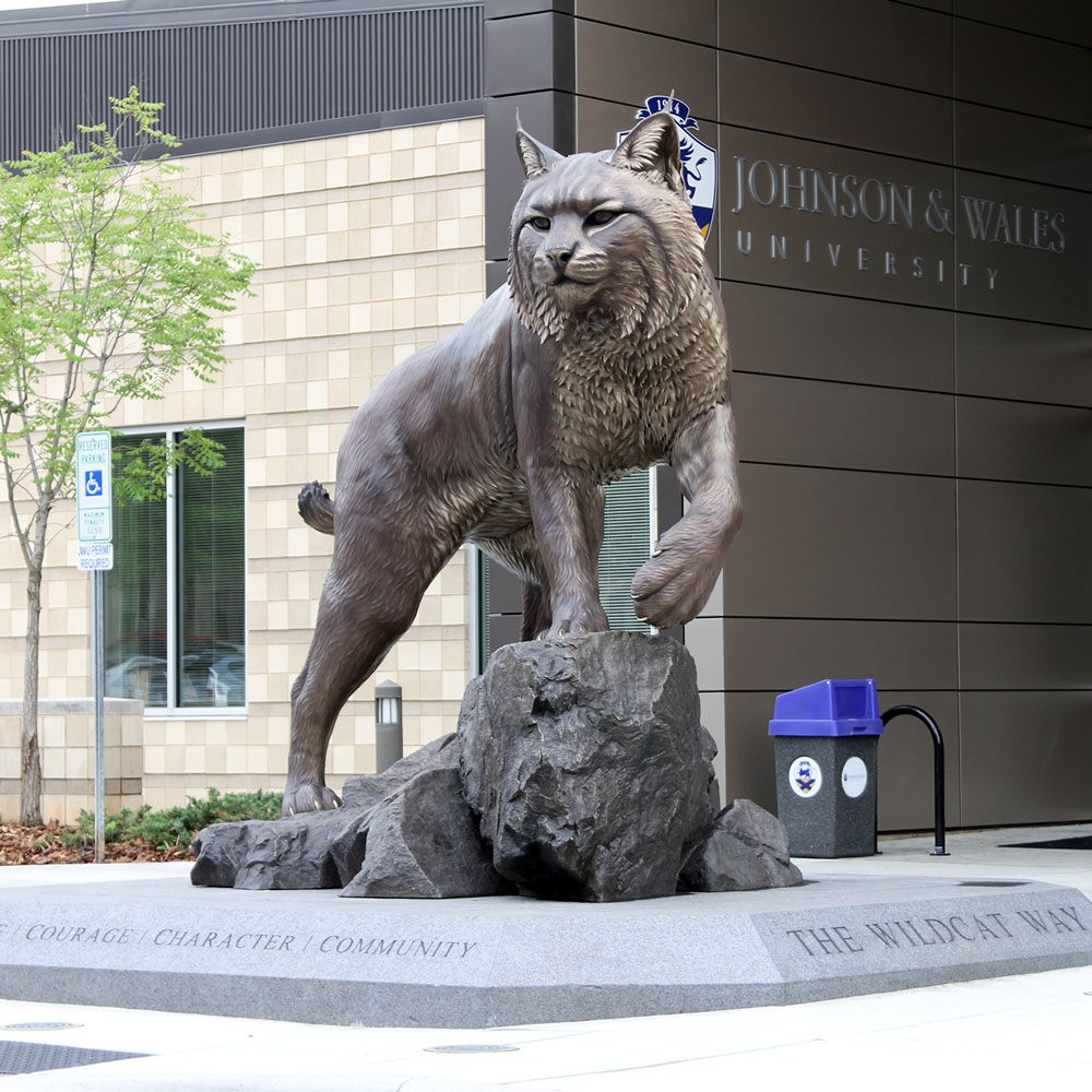 Wildcat University Mascot Monument Statue JWU College Professional team 12