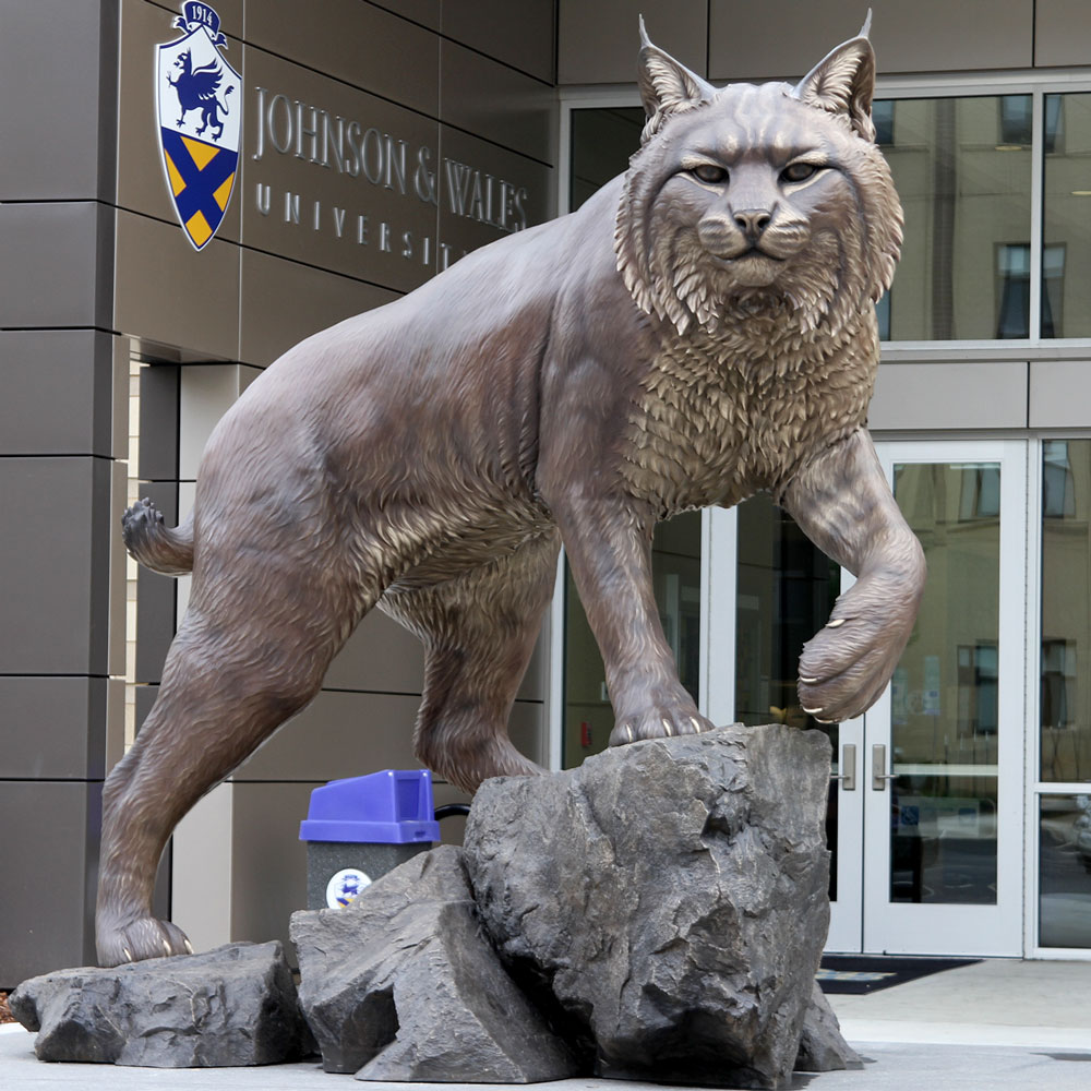 Wildcat University Mascot Monument Statue JWU College Professional team 13