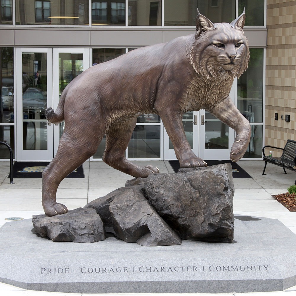 Wildcat University Mascot Monument Statue JWU College Professional team 15