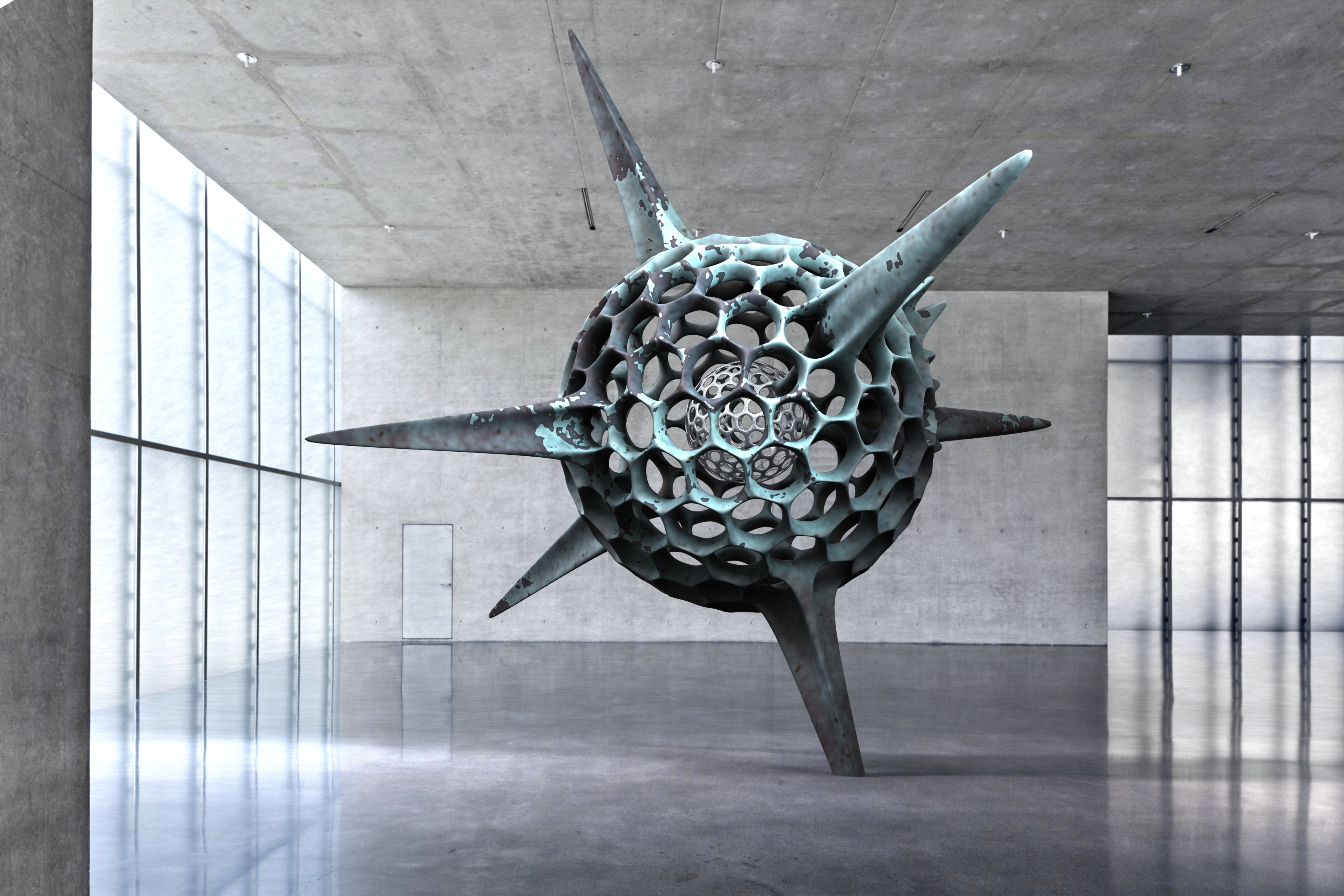 Kunsthaus Bregenz Contemporary Sculpture face off KUB Architecture Radiolarian Science Sea Creature 1