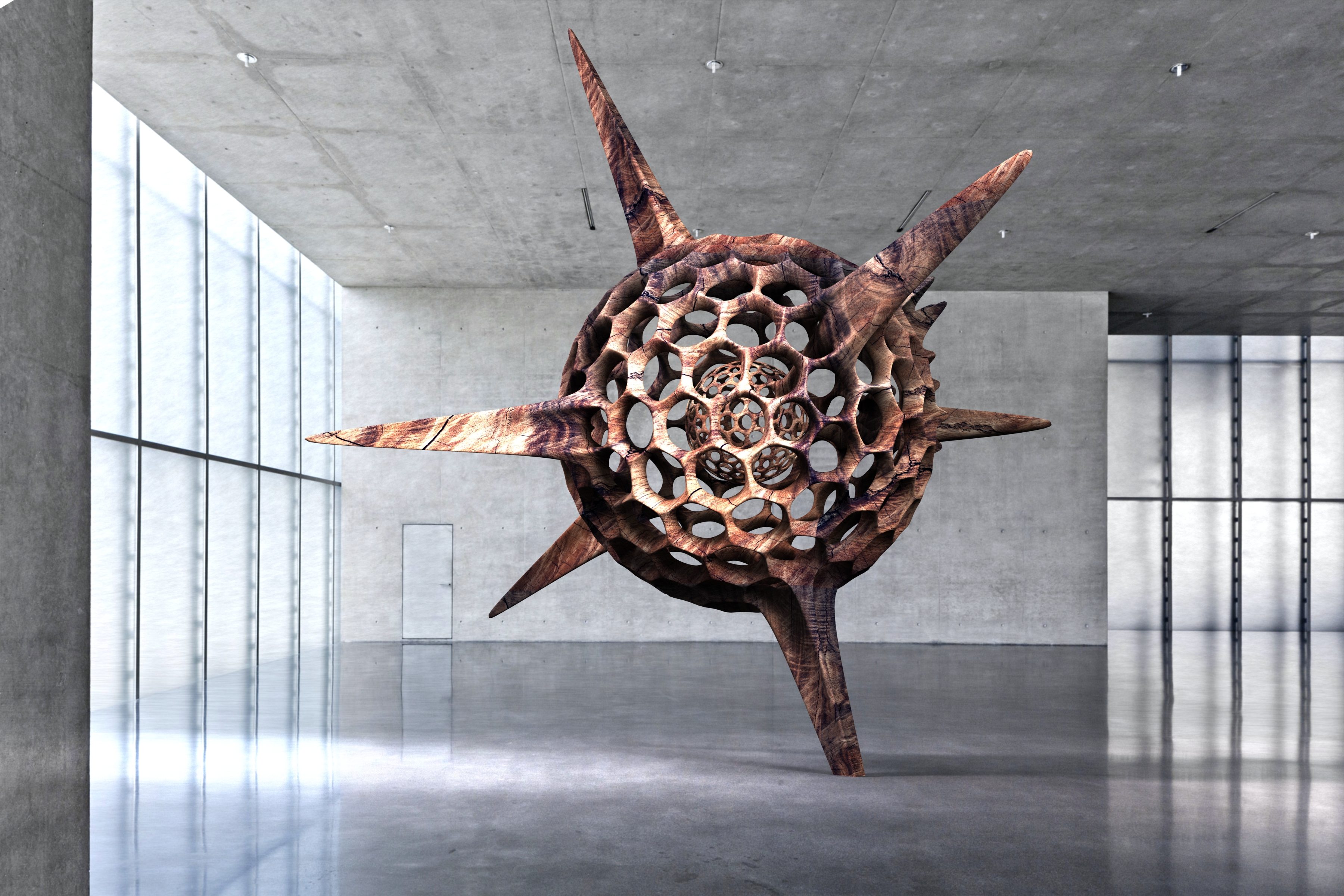Kunsthaus Bregenz Contemporary Sculpture face off KUB Architecture Radiolarian Science Sea Creature 2