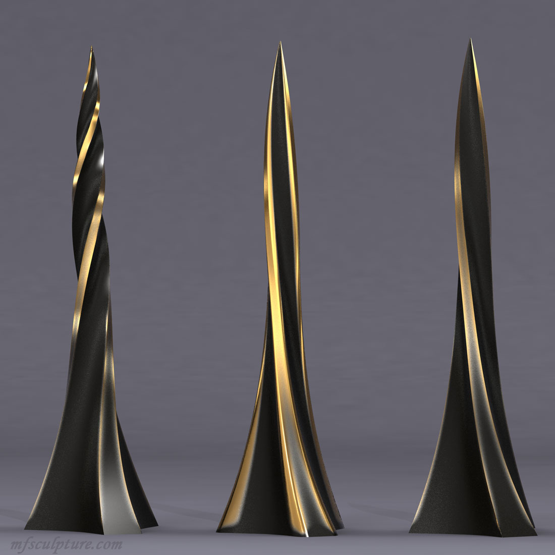 Twisted Obelisk Corporate Art Sculpture Modern Contemporary