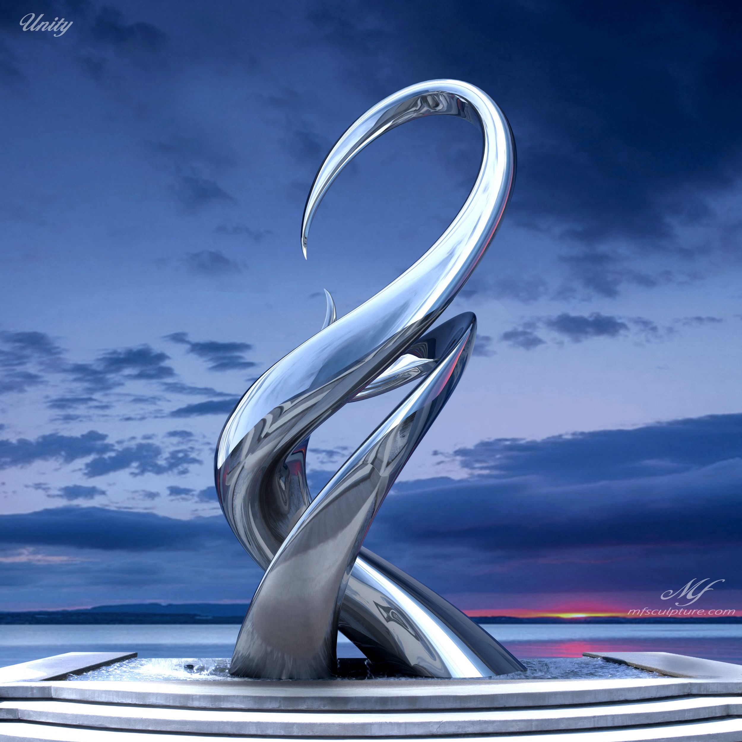 Contemporary Sculpturet Mike Fields Unity Stainless e1497416820932