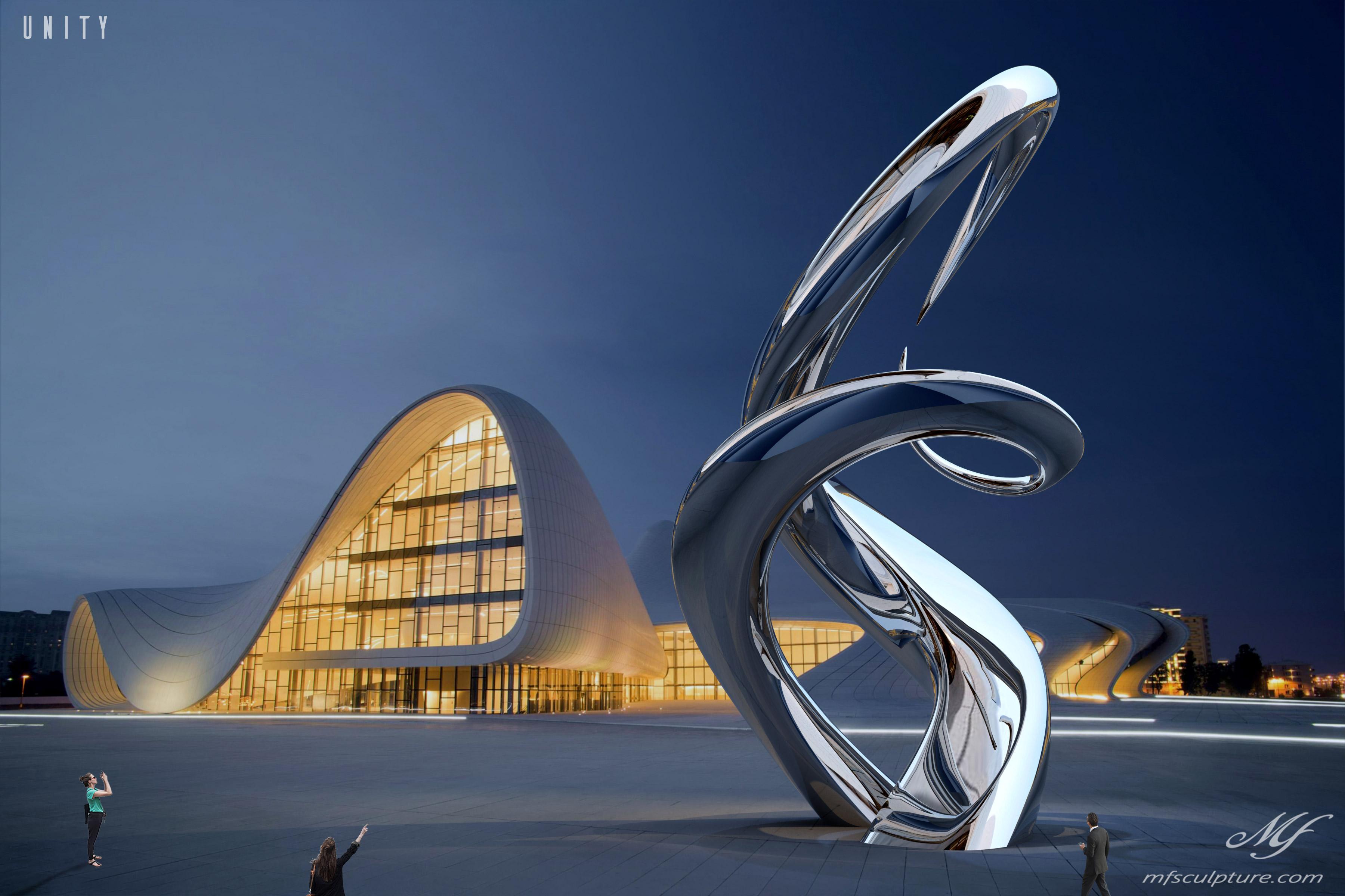heydar aliyev center baku zaha hadid Unity Modern Sculpture 2