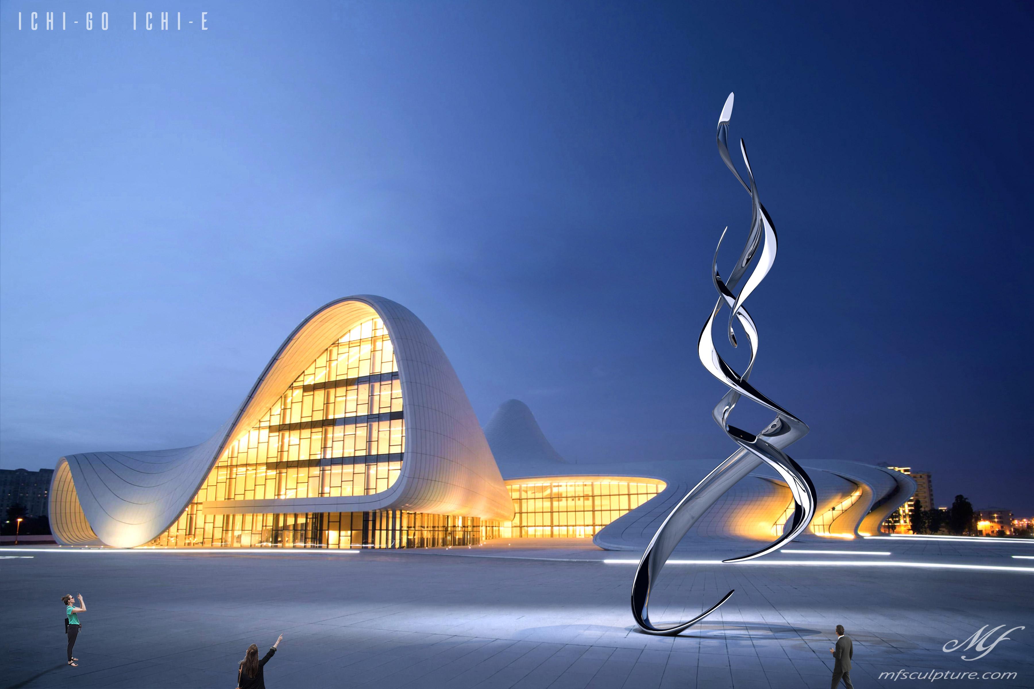 Heydar Aliyev Zaha Hadid Convergence Modern Sculpture Public Art Contemporary Ichi go ichi e 1