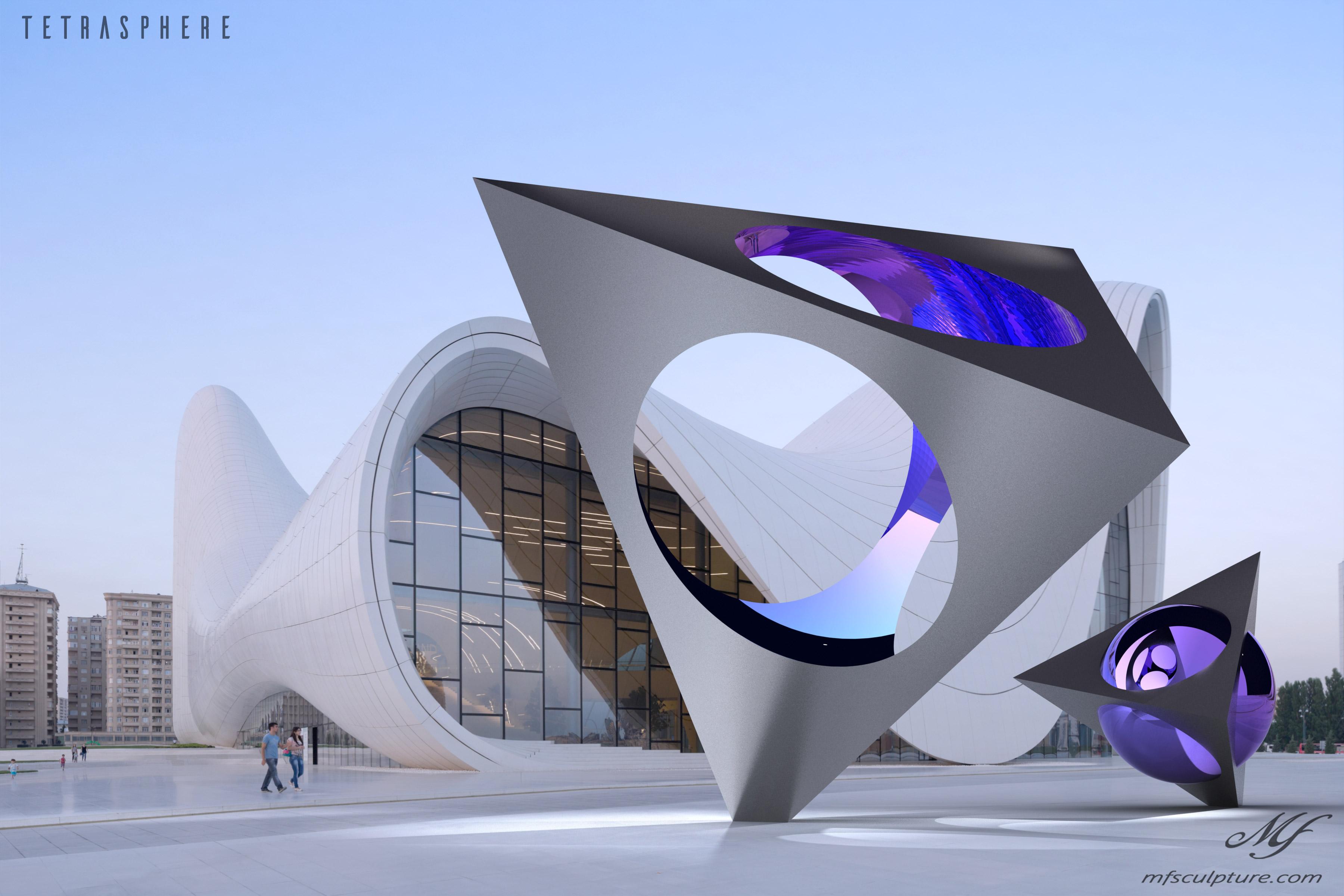 Heydar Aliyev Zaha Hadid Modern Sculpture Tetrasphere 1