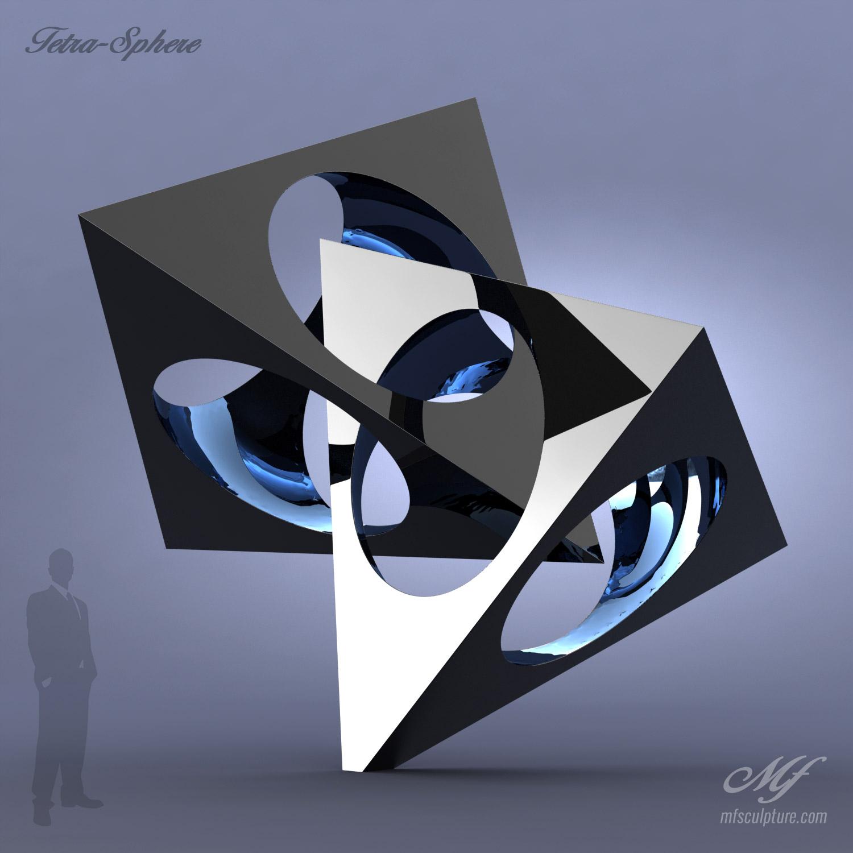 Modern Art Famous Tetra Sphere