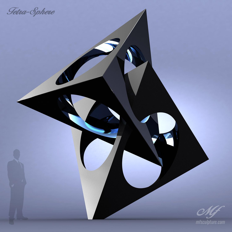 Tetra Sphere Contemporary Art
