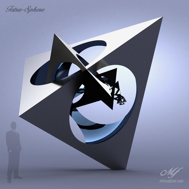 Tetra Sphere Modern Art Famous