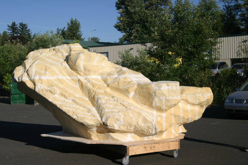 CNC Foam Rock WSU Monument Cougar 2
