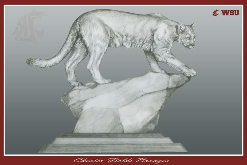 WSU Cougar Monument Mascot 2