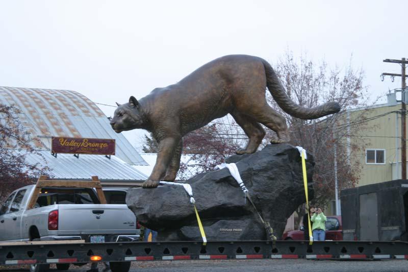 WSU Monument Mascot Installation 2