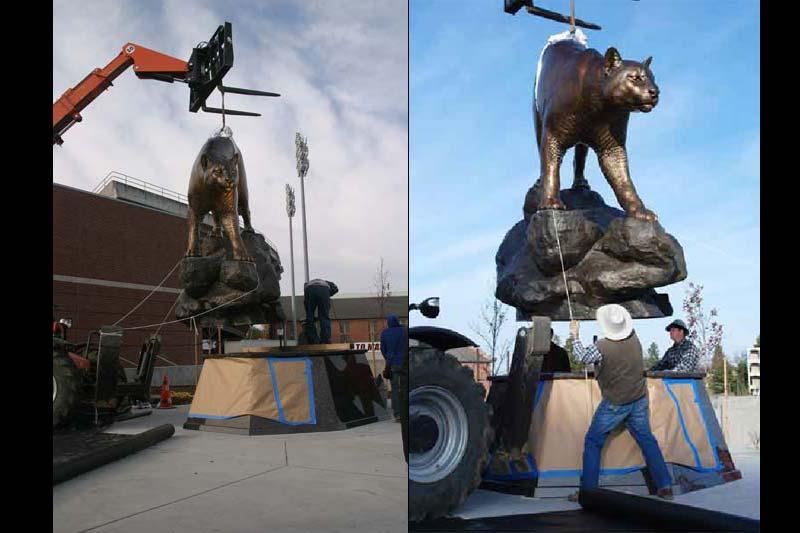 WSU Monument Mascot Installation 3
