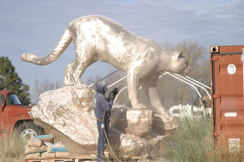 WSU Sandblasting Monument 3