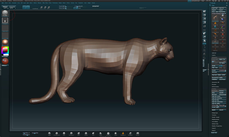 Zbrush Mike Fields Sculpture Cougar Pride 1