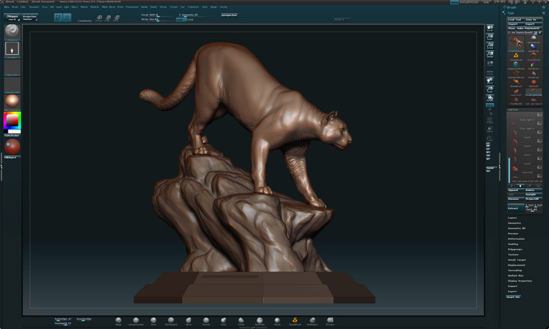 Zbrush Mike Fields Sculpture Cougar Pride 6