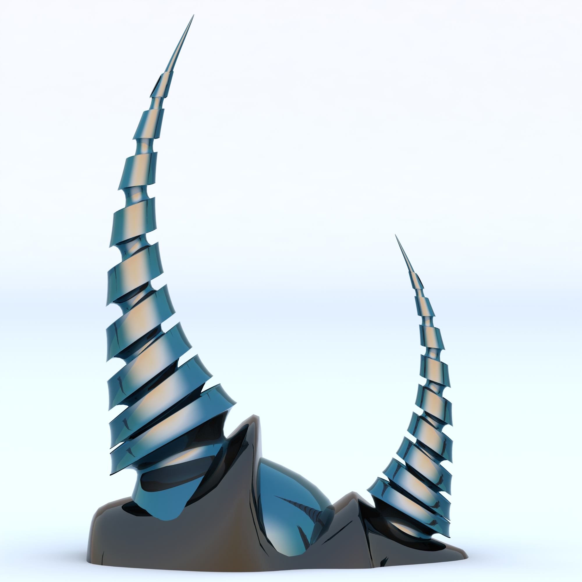 Stainless Steel Contemporary Sculpture Alien Spires 5