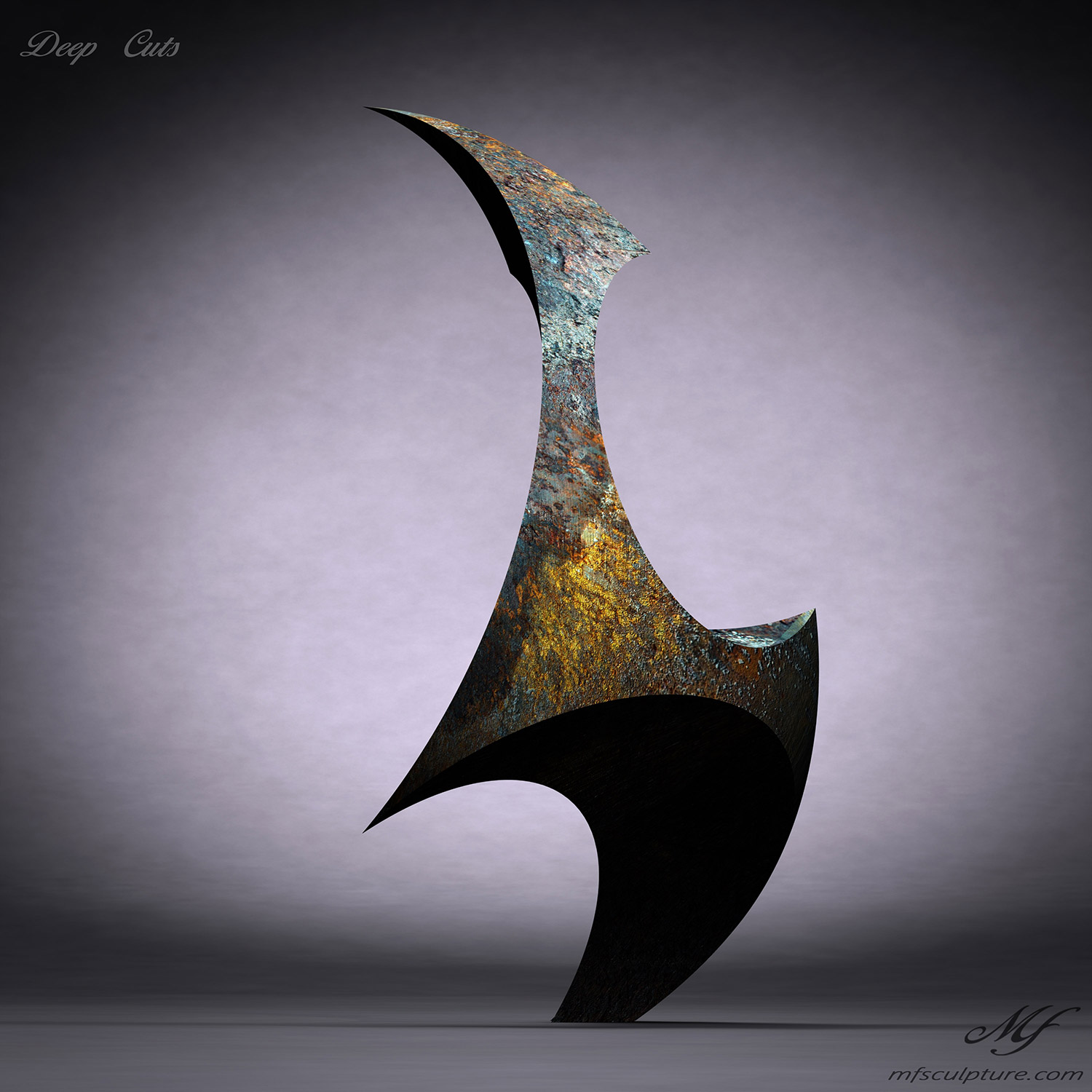 Abstract Statue Contemporary Mike Fields Deep Cuts 6