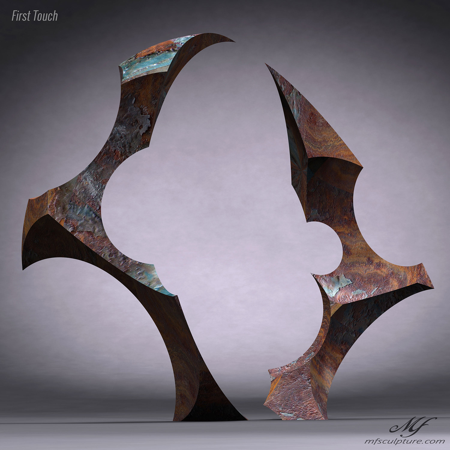 Contemporary Sculpture Abstract Face Off 5