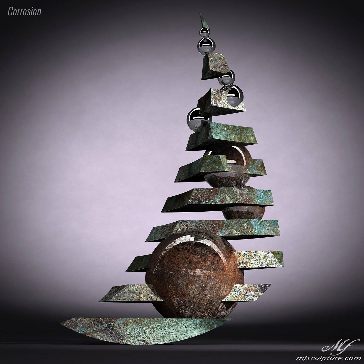 Corrosion Contemporary Sculpture Abstract Art 9