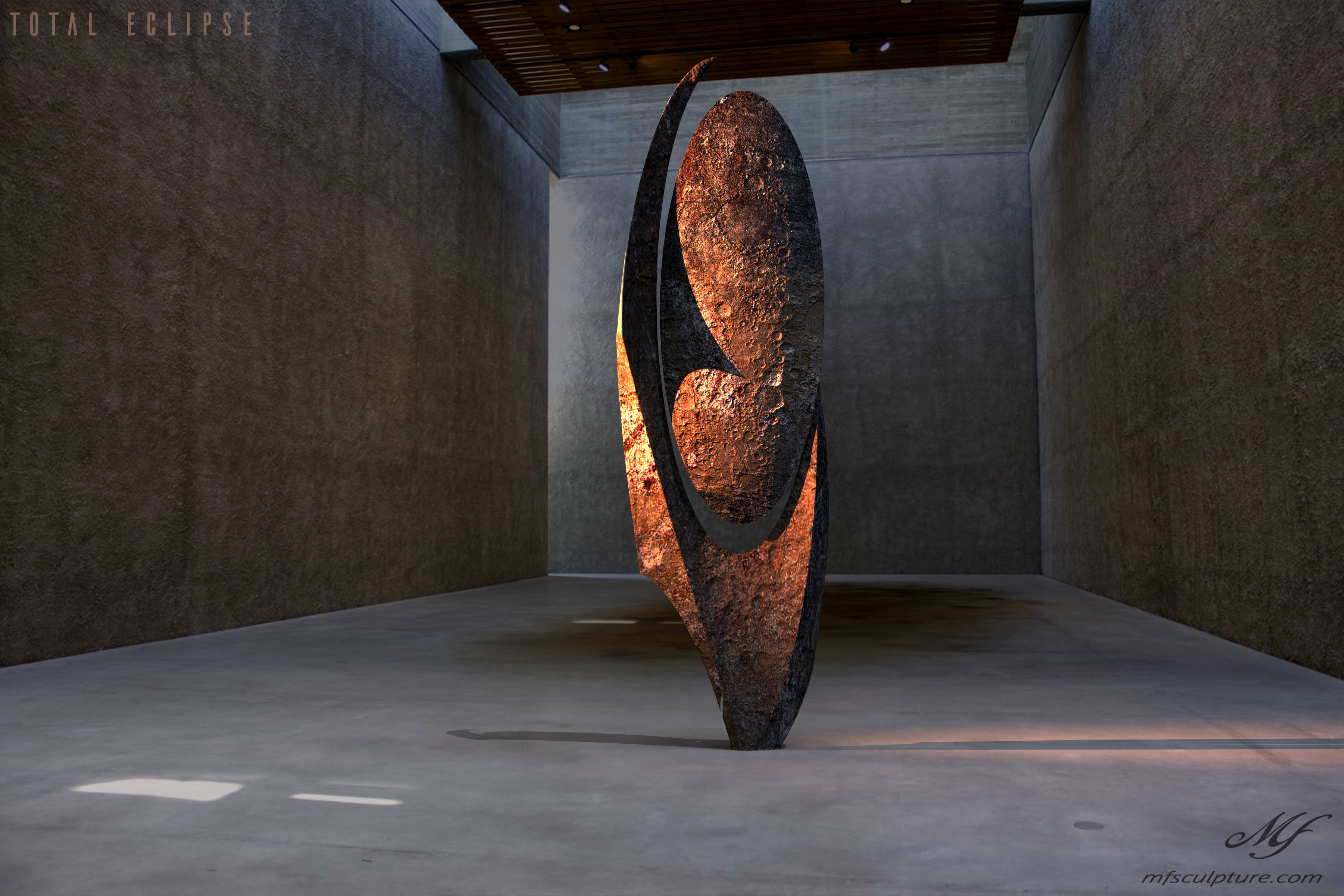 Konig Galerie Koenig Gallery Contemporary Sculpture Art Total Eclipse Moon 1