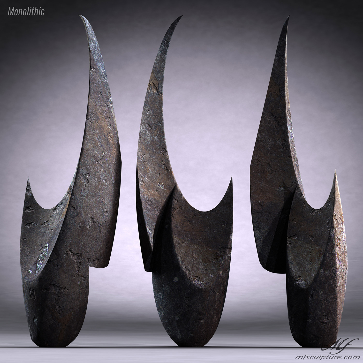 Monolithic Abstract Contemporary Sculpture Mike Fields 2