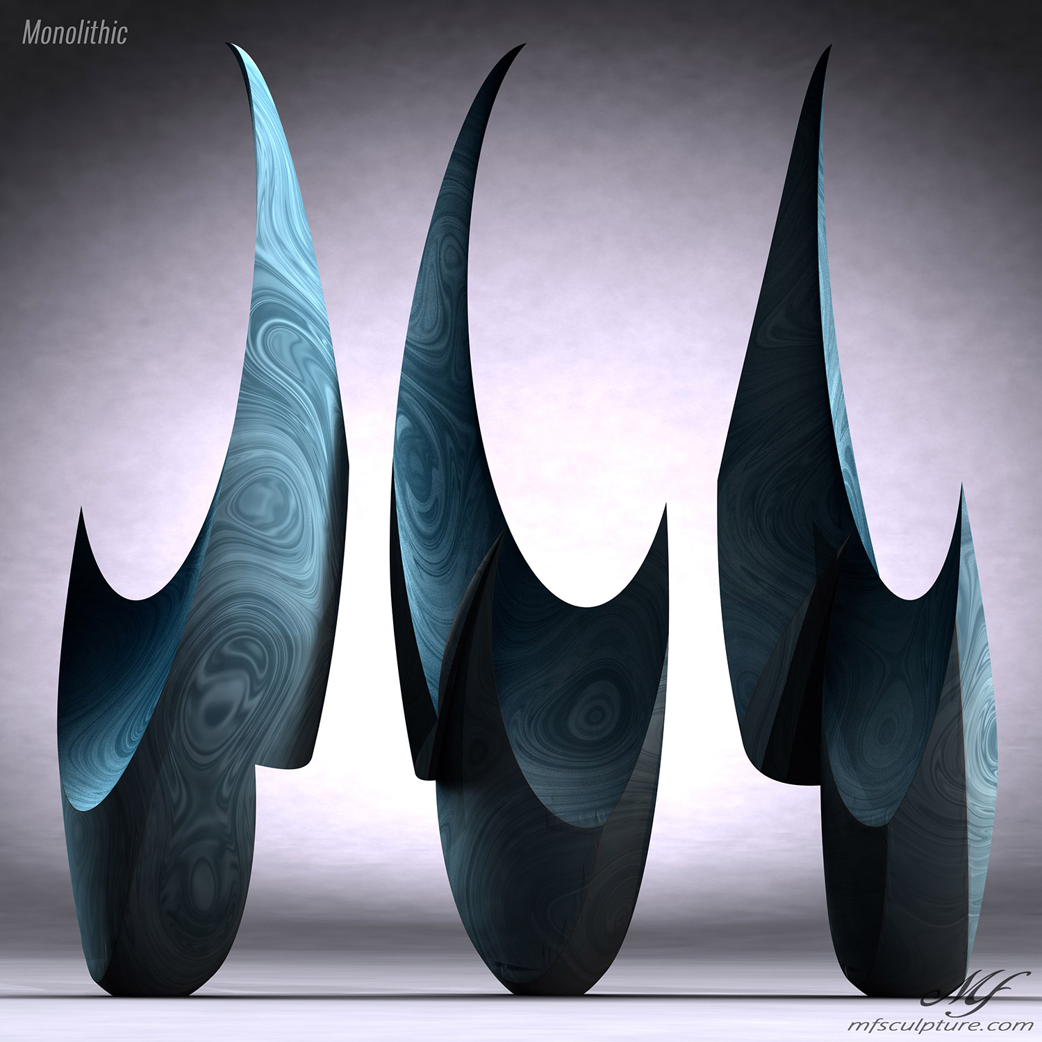 Monolithic Abstract Contemporary Sculpture Mike Fields 3
