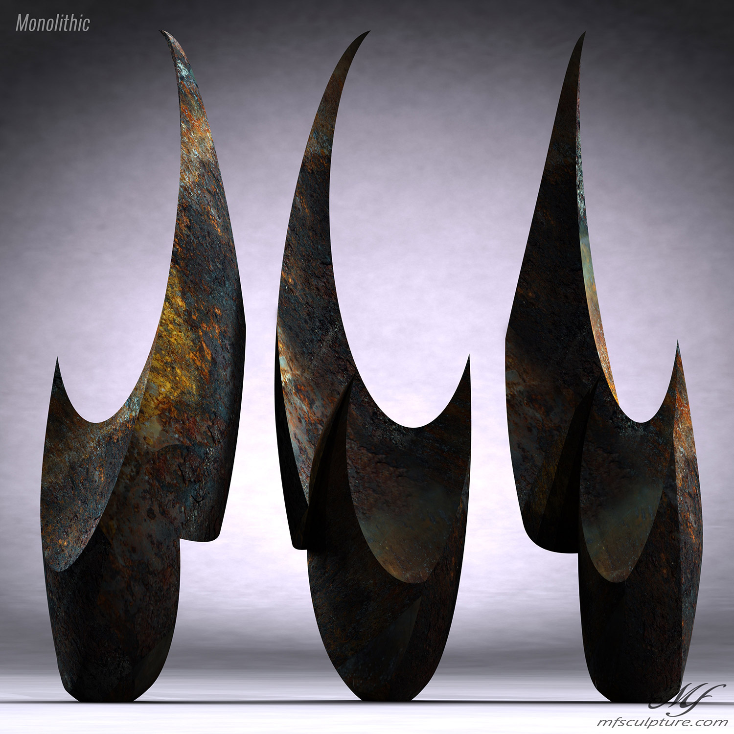 Monolithic Abstract Contemporary Sculpture Mike Fields 4