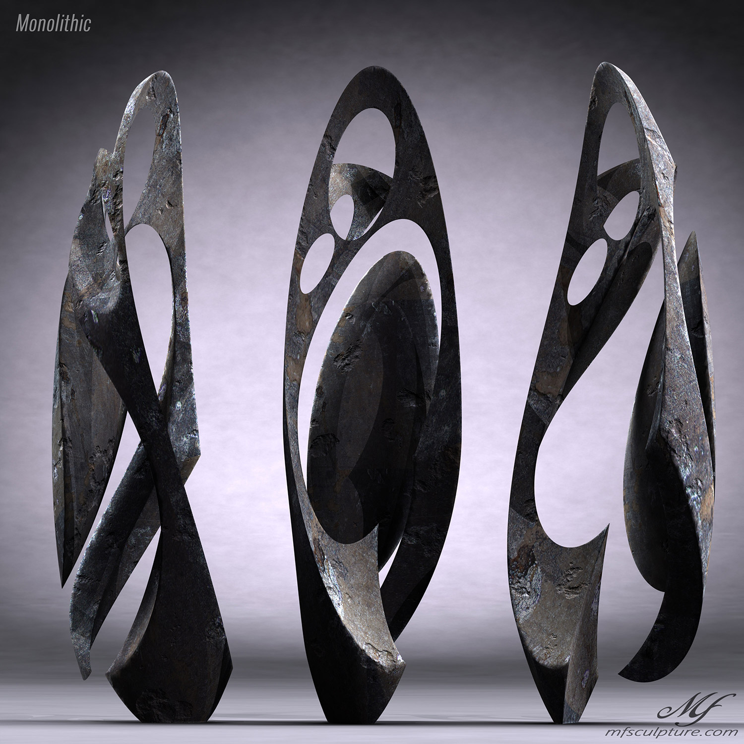 Monolithic Abstract Contemporary Sculpture Mike Fields 5