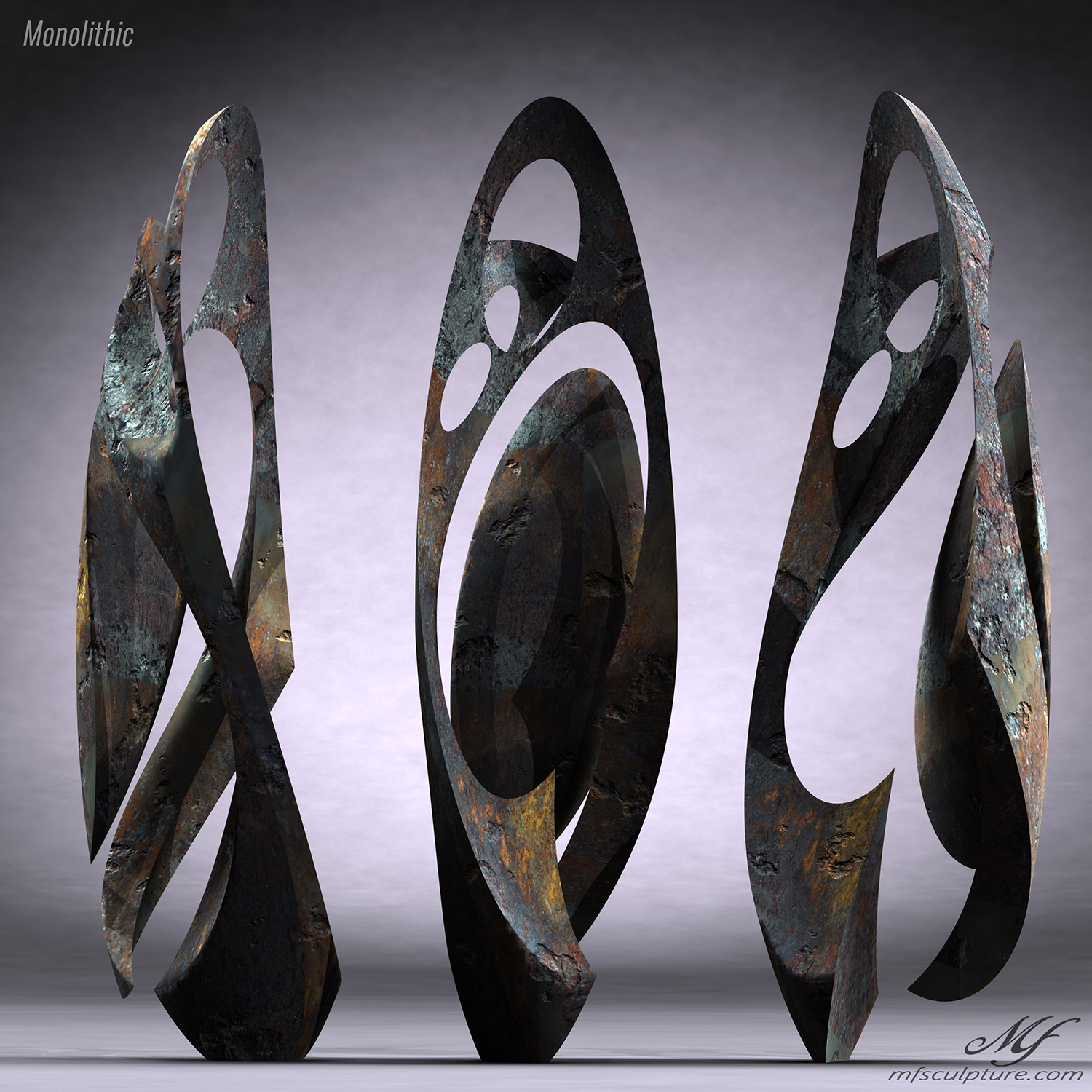Monolithic Abstract Contemporary Sculpture Mike Fields 6