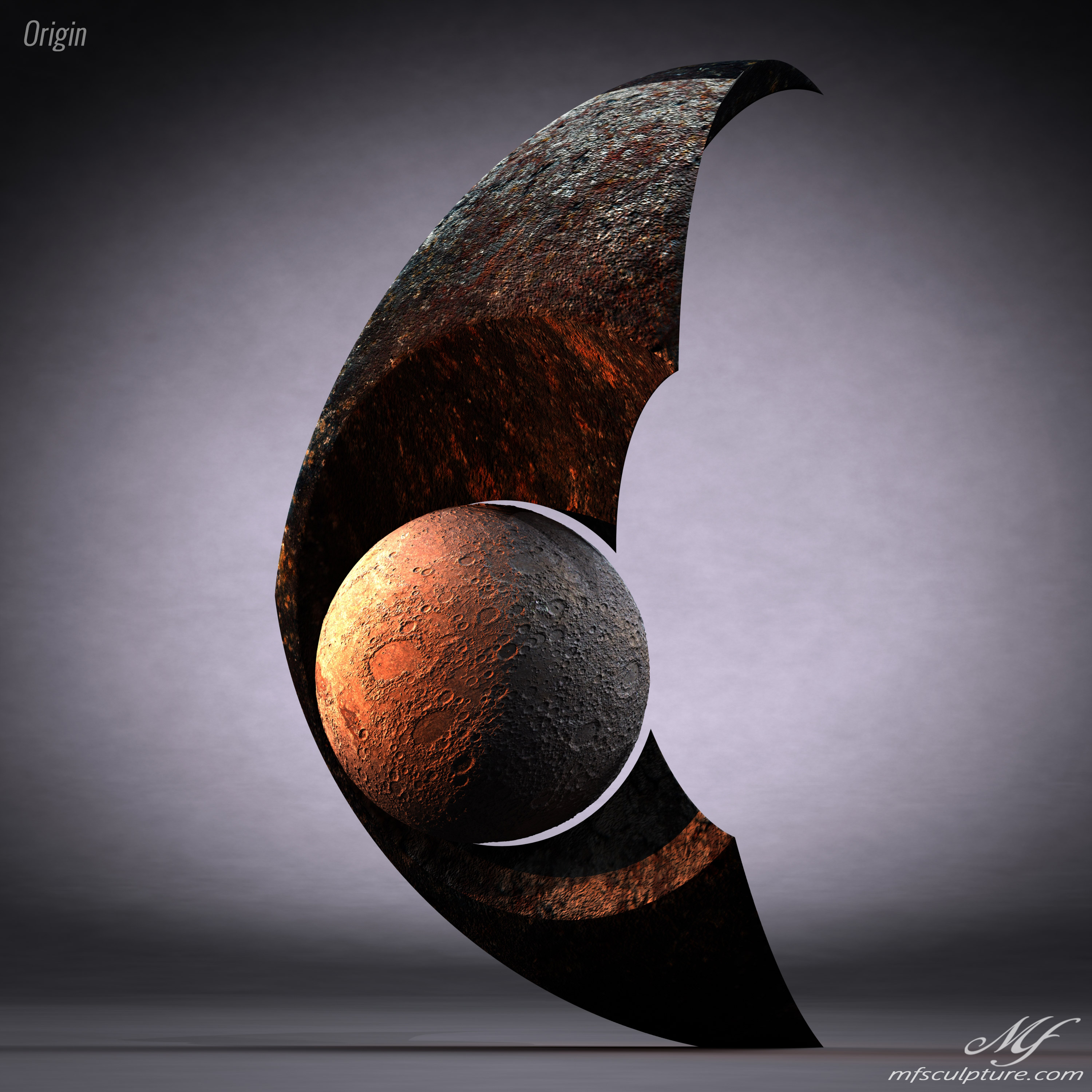 Origin Contemporary Sculpture Moon Eclipse Science 1 1