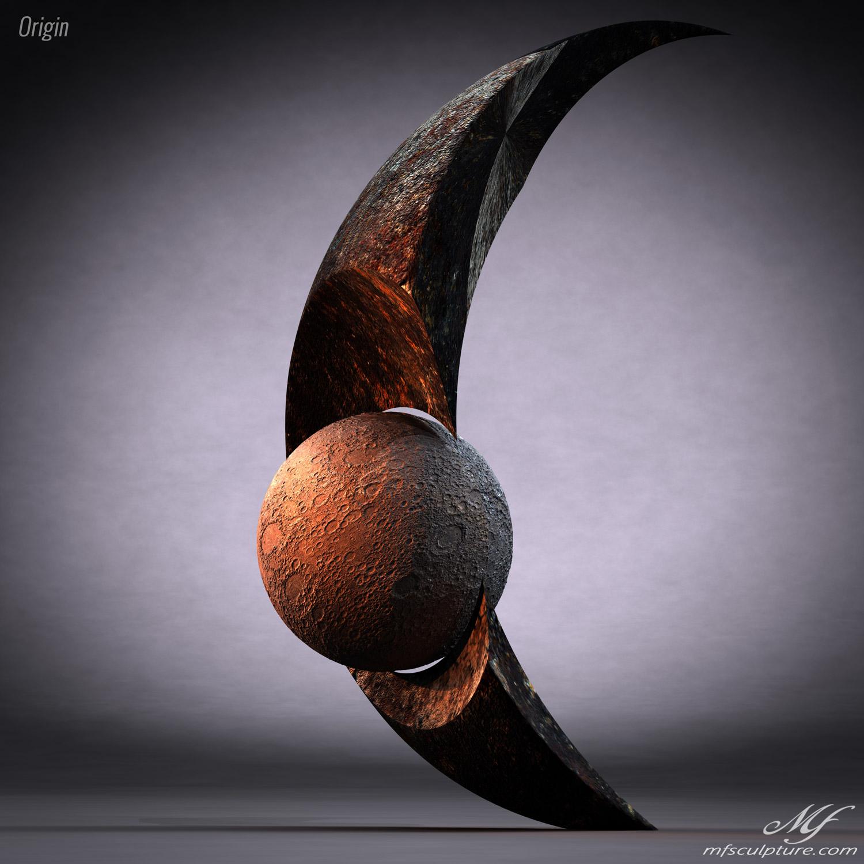 Origin Contemporary Sculpture Moon Eclipse Science 2 1