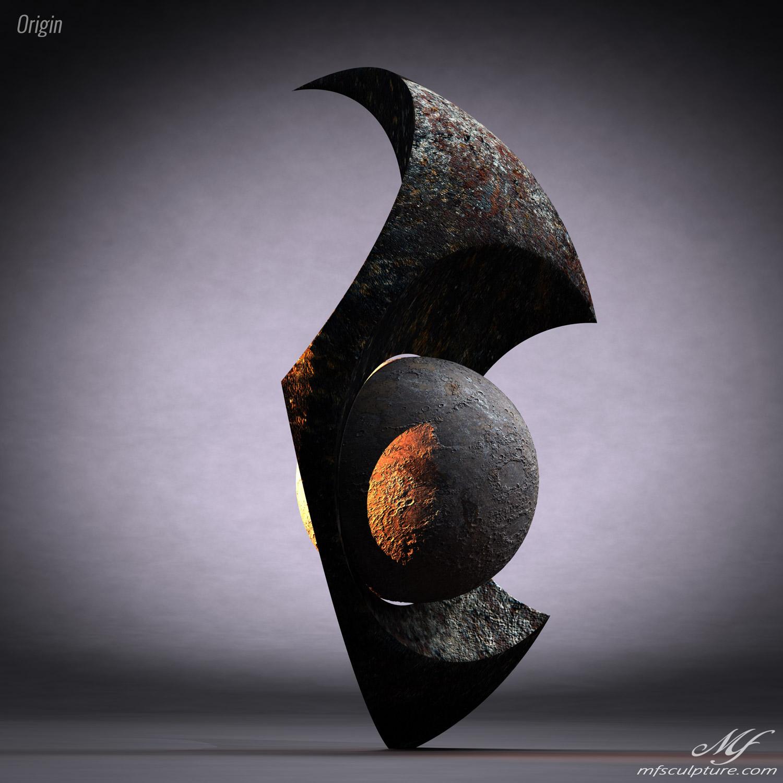 Origin Contemporary Sculpture Moon Eclipse Science 3 1