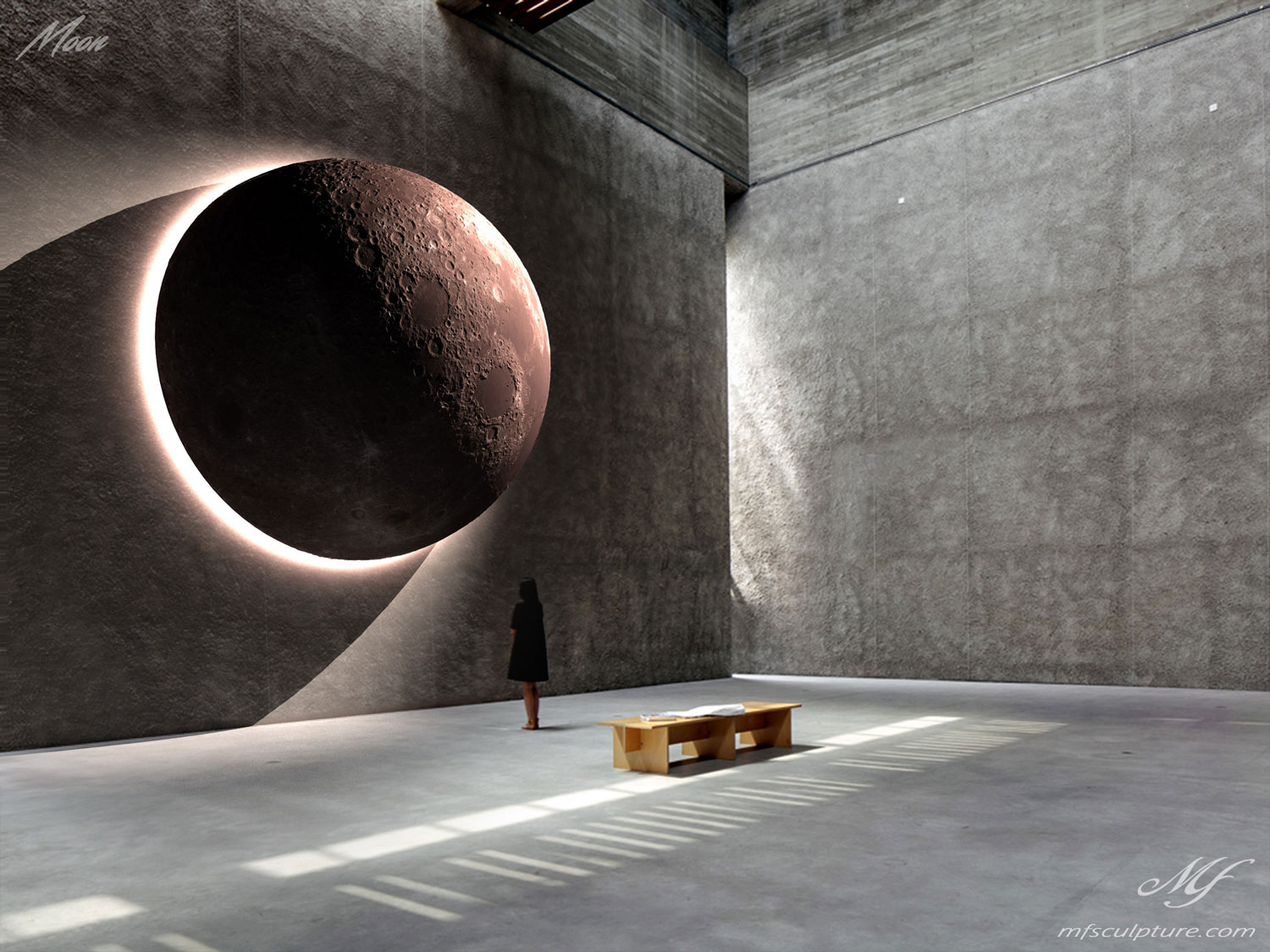 Moon Contemporary Sculpture Famous Mike Fields