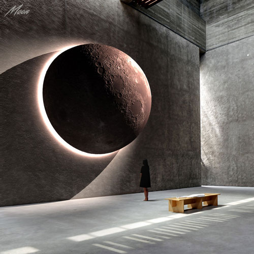 Moon Mike Fields sculpture contemporary