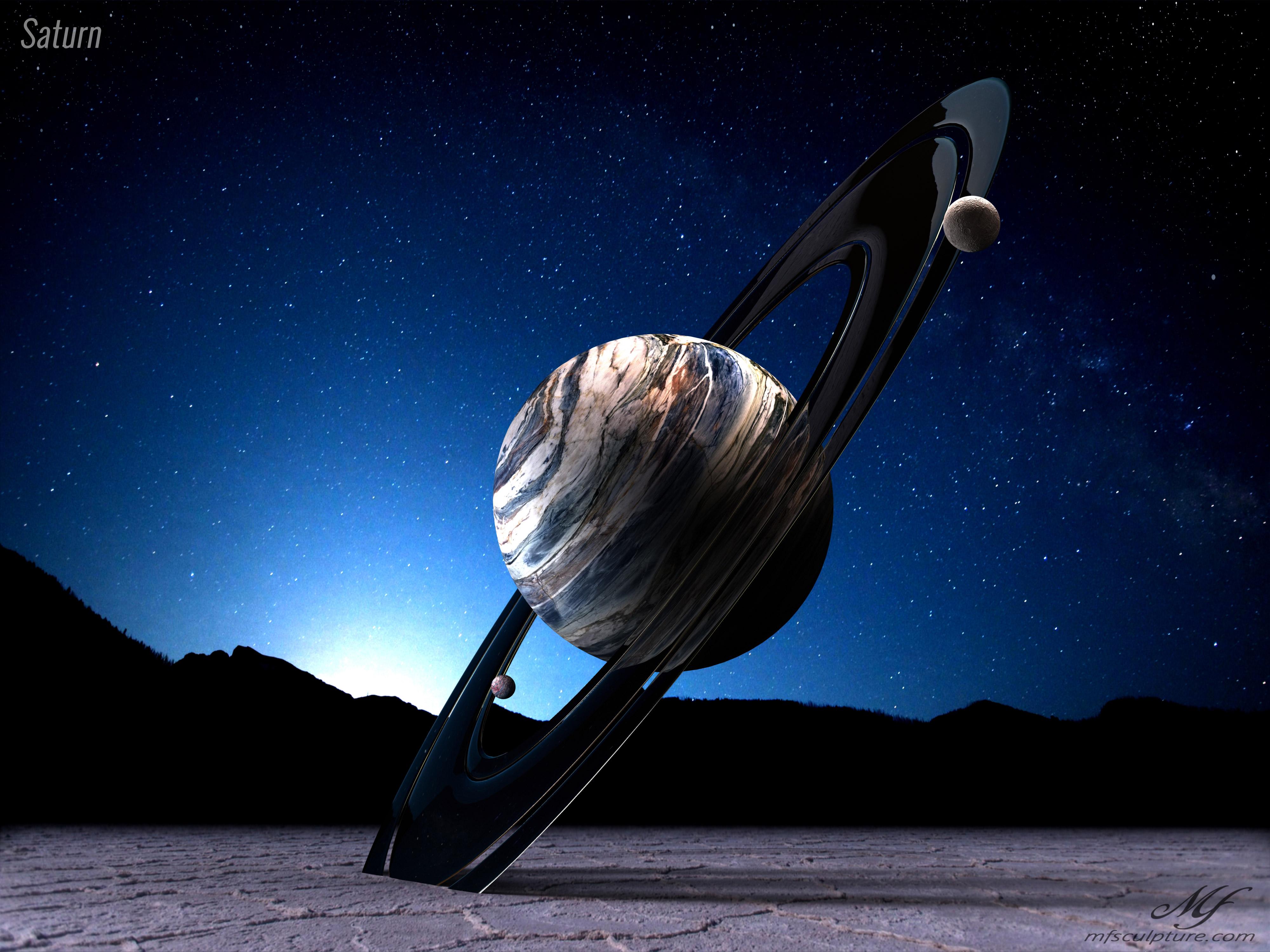 Saturn Contemporary Science Sculpture 4