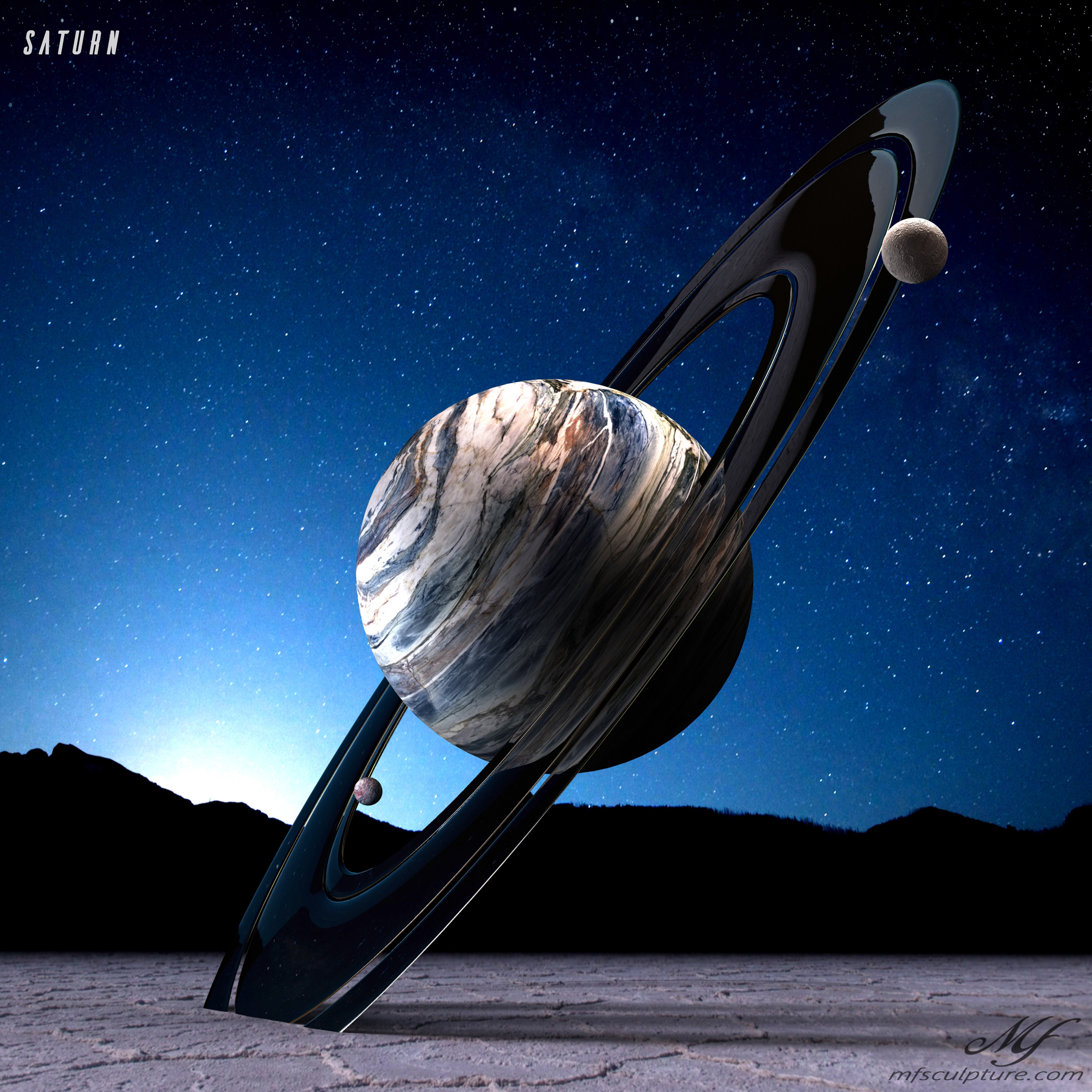 Saturn Contemporary Science Sculpture 7