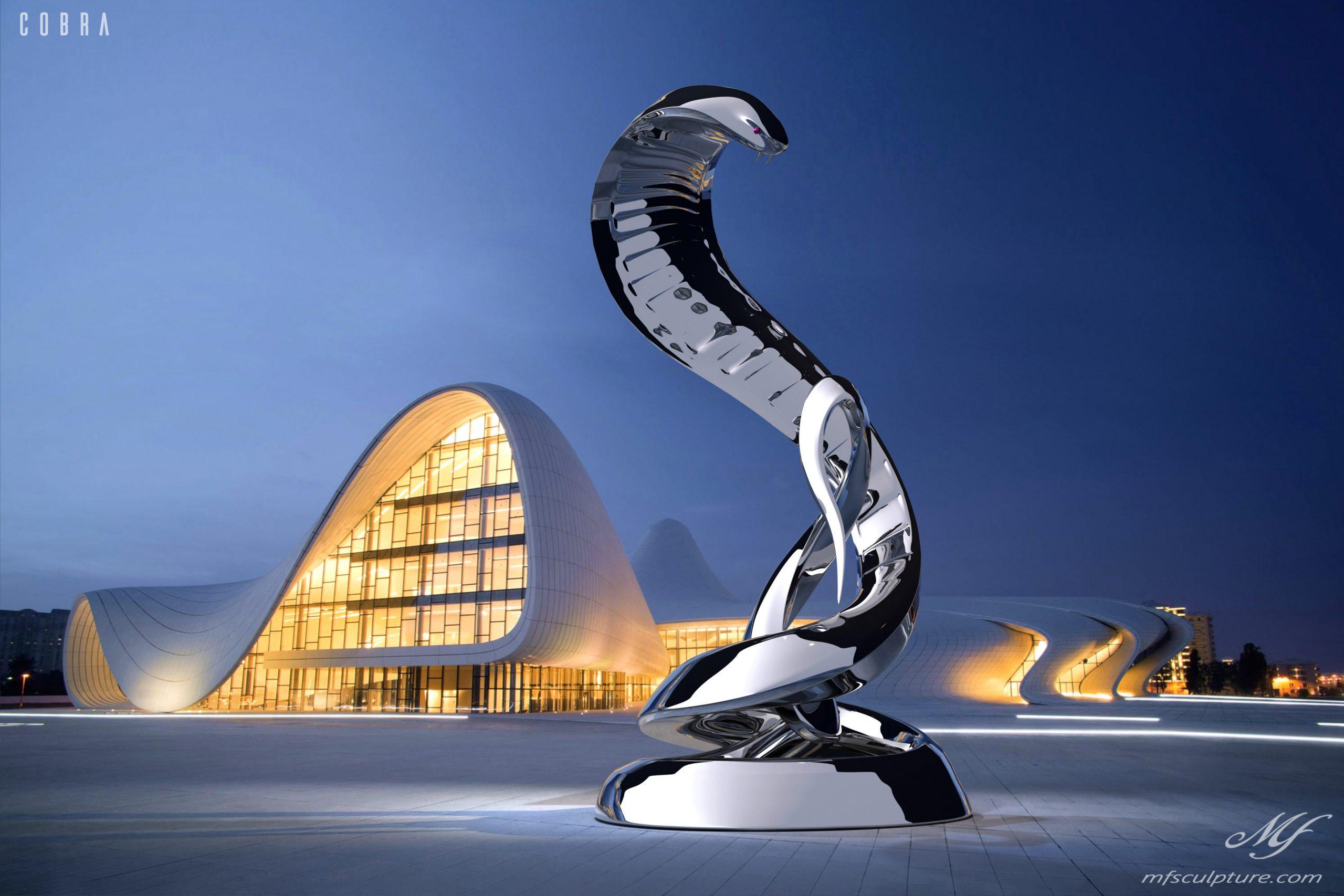 Heydar Aliyev Zaha Hadid Modern Sculpture Cobra2 1