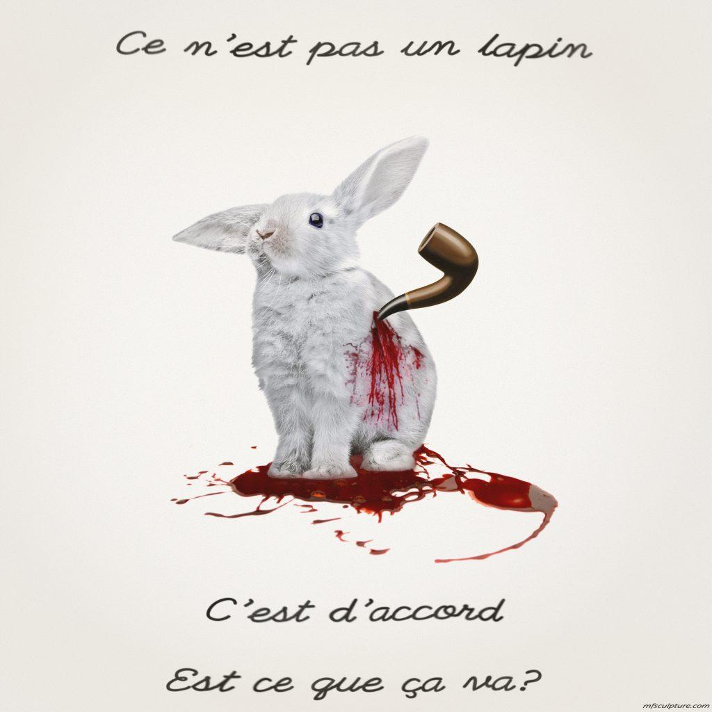 Postmodernism Cultural Relativism René Magritte not a cigar conceptual art White Rabbit