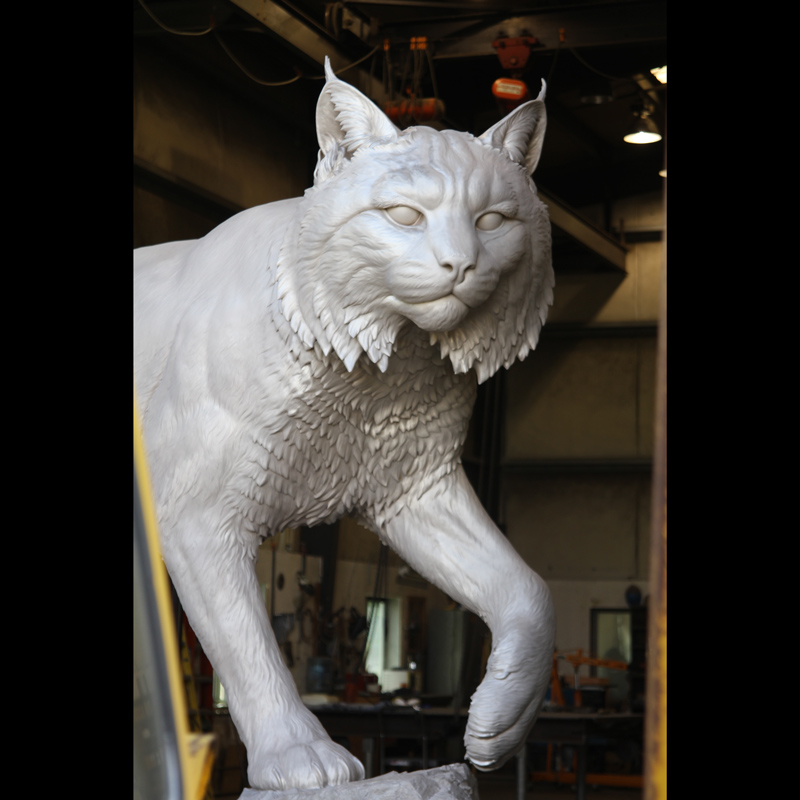 wildcat mike fields sculpture JWU